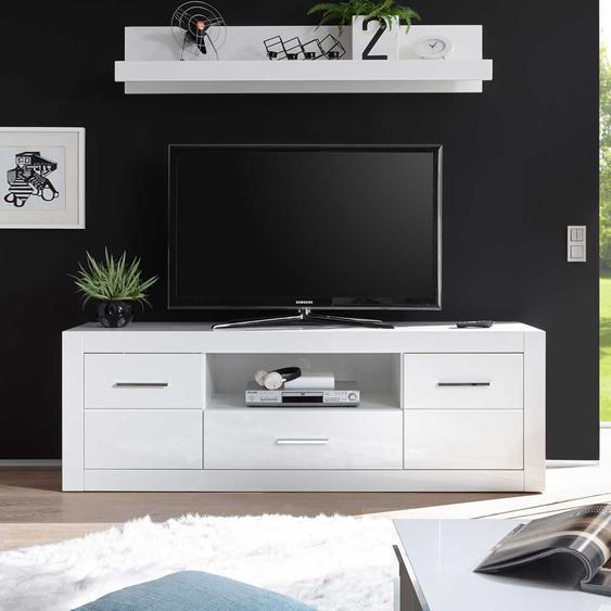 TV Lowboard in Hochglanz Wei� 180 cm breit