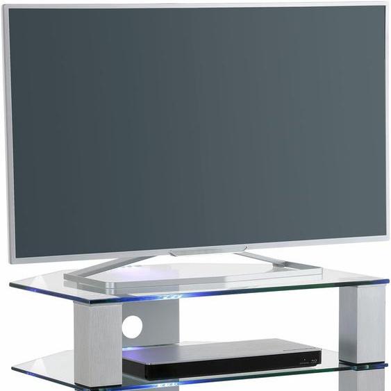 TV-Rack »1654«, MAJA Möbel, Material ESG-Sicherheitsglas, Metallgestell, Aluminium
