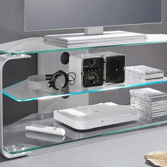 TV-Rack »CU-MR 105«, Breite 114 cm, Jahnke, Material ESG-Sicherheitsglas, Aluminium, Stahl