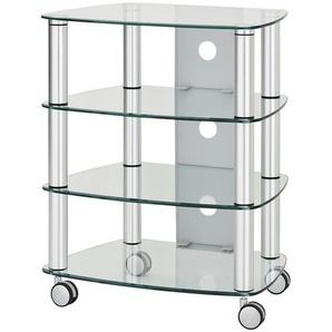 TV-Rack | silber | 60 cm | 75 cm | 47 cm | Möbel Kraft