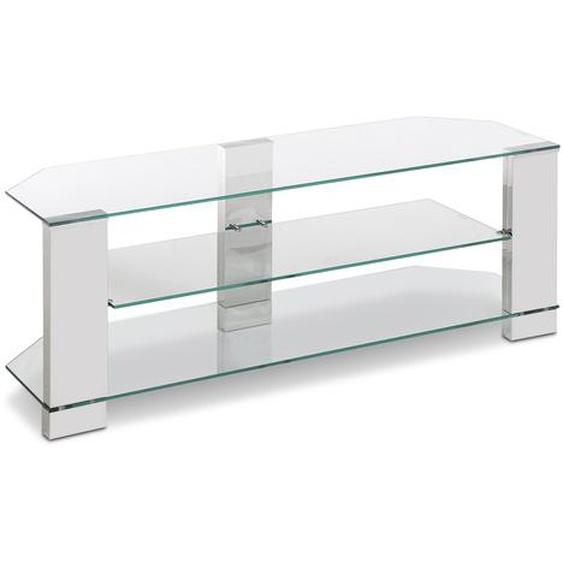 TV Rack, Transparent, Glas