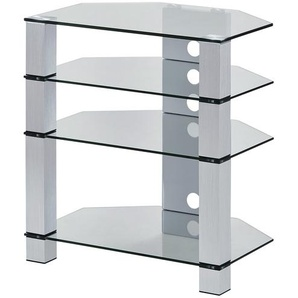 TV-Rack | transparent/klar | 70 cm | 77 cm | 50 cm | Möbel Kraft