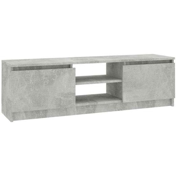Tv Schrank Lowboard Betongrau 120x30x35 Cm Tv Möbel Tv Regal Sideboard