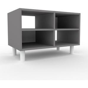 TV-Schrank Grau - Moderner Fernsehschrank: Hochwertige Qualität, einzigartiges Design - 79 x 53 x 47 cm, konfigurierbar