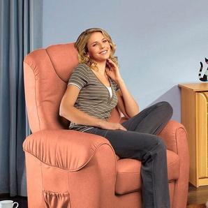 sit&more TV-Sessel, FSC®-zertifiziert, orange, manuell verstellbar