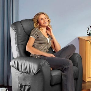 TV-Sessel, FSC®-zertifiziert, schwarz, , manuell verstellbar