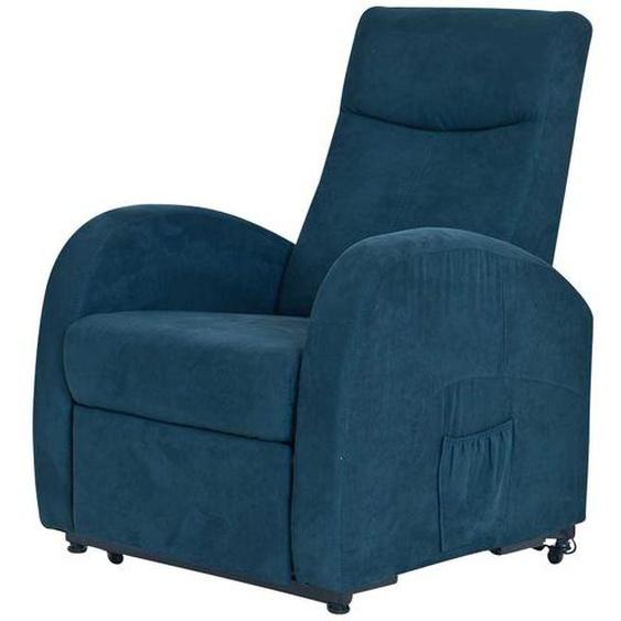 TV Sessel in Blau mit Motor