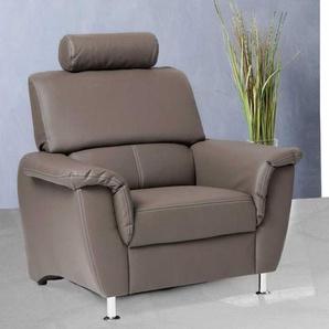 TV Sessel in Braun mit Kopfst�tze