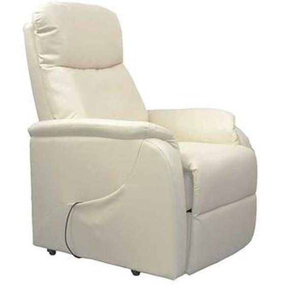 TV Sessel in Creme Wei� elektrisch