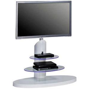 TV-Ständer in Weiß Hochglanz LED Beleuchtung