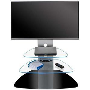 TV-Ständer mit blauer LED Beleuchtung Sicherheitsglas