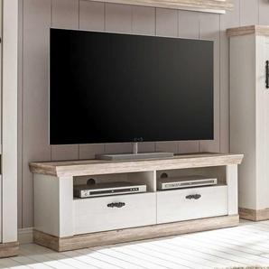 TV Unterschrank im Landhausstil Pinie Weiß