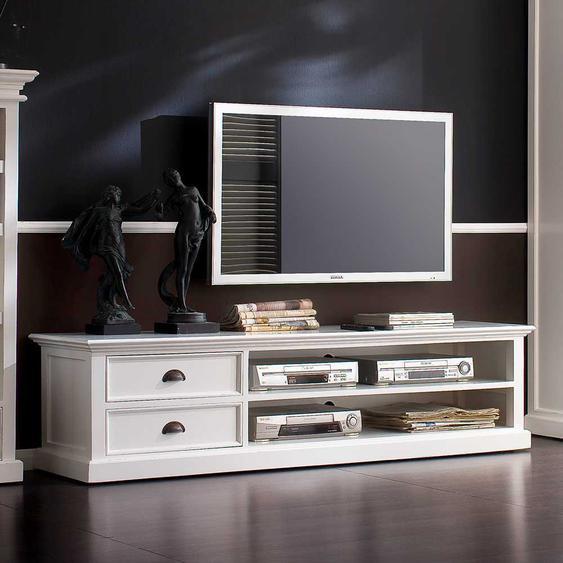 TV Unterschrank in Wei� Landhaus Design