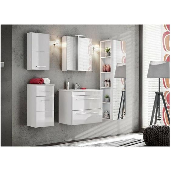 Twiest Badezimmerset Weiß Hochglanz | Weiß