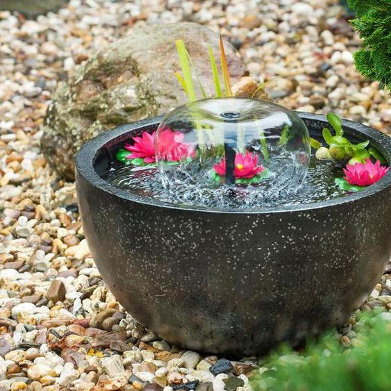 Ubbink AcquaArte Mini-Teichset rund mit Pumpe und Seerosen, Ø 54 cm, H 30 cm