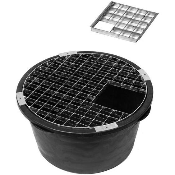 Ubbink Brunnen-Einbau-Set Becken H36xØ68 cm, Abdeckrost Ø61 cm und Einsatzstück