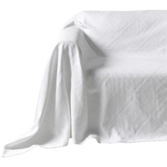 Überwürfe mit Hoch-/Tief-Struktur, Pereira da Chuna, weiß