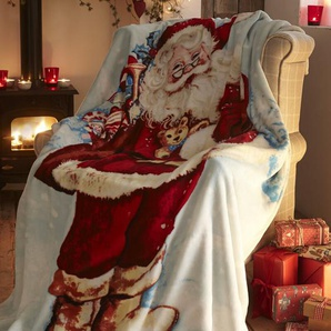 Überwurf Father Christmas Festive