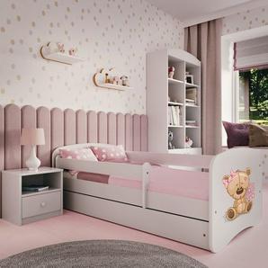 Funktionsbett Nikias mit Matratze und Schublade