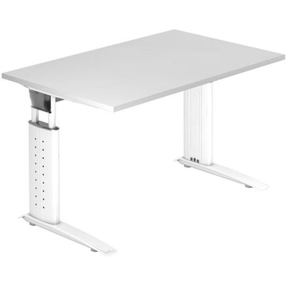 UNDA 12 W - 120 x 80 höhenverstellbar Weiß/Weiß
