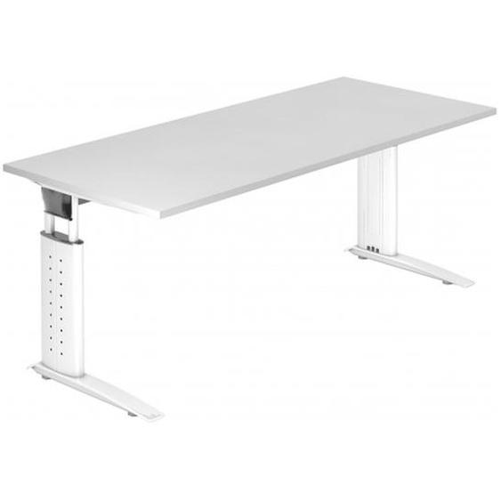 UNDA 19 W - 180 x 80 höhenverstellbar Weiß/Weiß