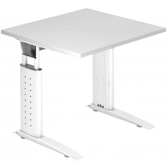 UNDA 8 W - 80 x 80 höhenverstellbar Weiß/Weiß