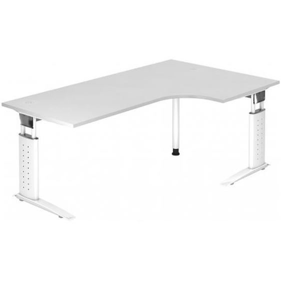 UNDA 82 W - 200 x 120 höhenverstellbar Weiß/Weiß