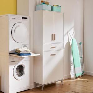 Universal-Wäscheschrank - braun - Holz -