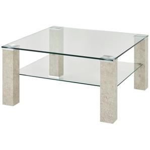 Couchtisch  Ancona ¦ transparent/klar ¦ Maße (cm): B: 75 H: 40 T: 75 Tische  Couchtische  Couchtische rechteckig » Höffner