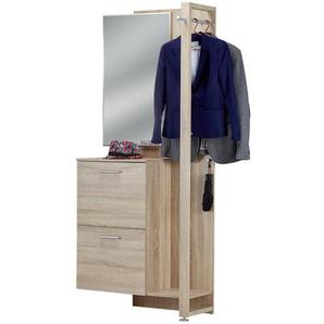 uno Kompaktgarderobe  GOBBO ¦ holzfarben ¦ Maße (cm): B: 85 H: 195 T: 35 Garderoben & Kleiderstangen  Garderoben » Höffner