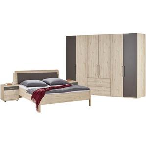 uno Komplett-Schlafzimmer, 4-teilig  Grenada ¦ holzfarben ¦ Maße (cm): B: 306 H: 220 T: 71