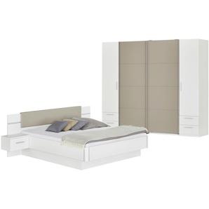 uno Komplett-Schlafzimmer  4-teilig mit Beleuchtung Miami ¦ weiß Komplett-Schlafzimmer » Höffner