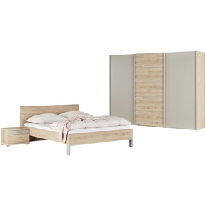 uno Komplett-Schlafzimmer 4-teilig  Rügen 2 ¦ holzfarben ¦ Maße (cm): B: 250 H: 217 T: 67