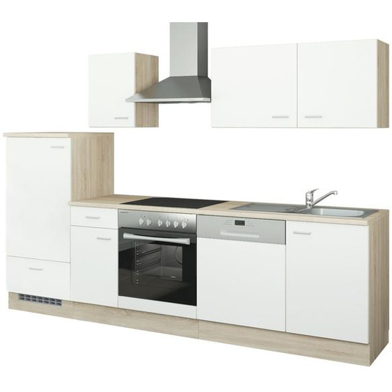 uno Küchenzeile mit Elektrogeräten  Berlin ¦ weiß ¦ Maße (cm): B: 270