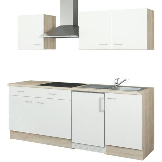 uno Küchenzeile mit Elektrogeräten  Bremen ¦ weiß ¦ Maße (cm): B: 210