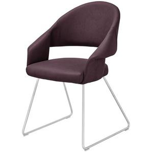 uno Kufenstuhl  Lena ¦ lila/violett ¦ Maße (cm): B: 61 H: 83 T: 62 Stühle  Esszimmerstühle  Esszimmerstühle mit Armlehnen » Höffner
