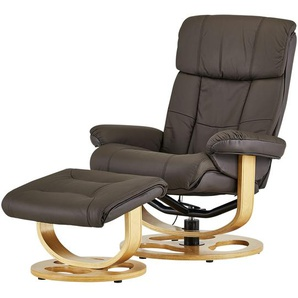 Massagesessel mit Hocker  Lian ¦ braun ¦ Maße (cm): B: 85 H: 107 T: 89 Polstermöbel  Sessel  Ledersessel » Höffner