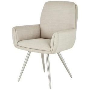 uno Stuhl  Ilka ¦ beige ¦ Maße (cm): B: 61,5 H: 93 T: 63 Stühle  Esszimmerstühle  Esszimmerstühle mit Armlehnen » Höffner