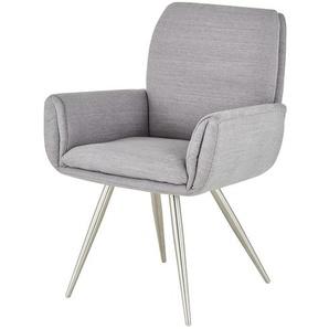 uno Stuhl  Ilka ¦ grau ¦ Maße (cm): B: 61,5 H: 93 T: 63 Stühle  Esszimmerstühle  Esszimmerstühle mit Armlehnen » Höffner