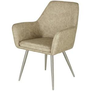 uno Stuhl  Ilvie ¦ beige ¦ Maße (cm): B: 64,5 H: 89 T: 63,5 Stühle  Esszimmerstühle  Esszimmerstühle mit Armlehnen » Höffner