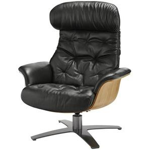 uno Relaxsessel schwarz - Leder Charis ¦ schwarz ¦ Maße (cm): B: 79 H: 100 T: 84 Polstermöbel  Sessel  Fernsehsessel » Höffner
