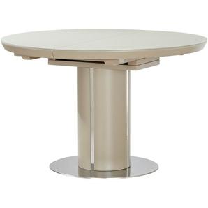 uno Säulentisch ausziehbar  Dante ¦ creme Ø: 120