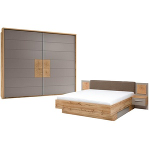uno Schlafzimmer 4-teilig, mit Bettkasten Campus ¦ grau