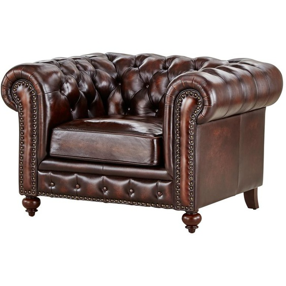 uno Sessel  Chesterfield ¦ braun
