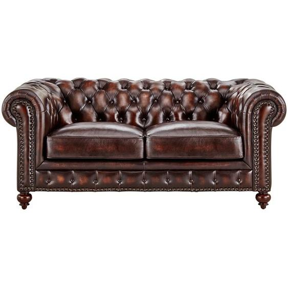 uno Sofa 2-sitzig  Chesterfield ¦ braun