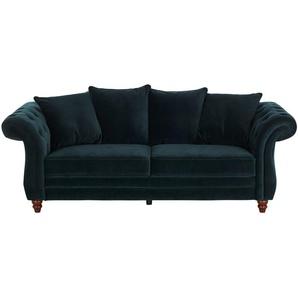 uno Sofa 3-sitzig ¦ grün ¦ Maße (cm): B: 226 H: 88 T: 95