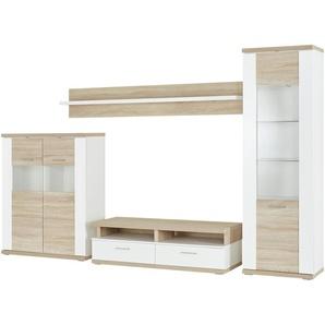 uno Wohnwand   Titan | weiß | 310 cm | 207 cm | 50 cm | Möbel Kraft