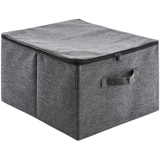 Unterbettkommode | grau | Polyester, Metall |