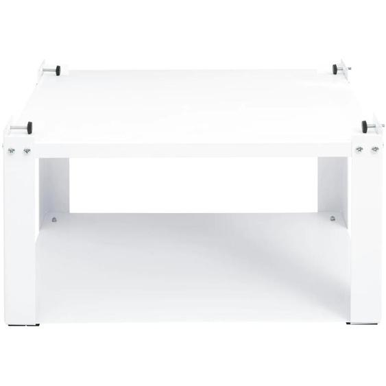 Untergestell, sehr stabil ca. 30/61/50 cm, 1 offenes Fach weiß Waschmaschinen SOFORT LIEFERBARE Haushaltsgeräte Ordnung