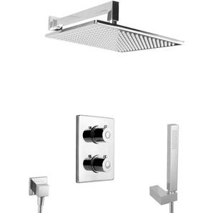 unterputz Duschsystem mit Thermostat Regendusche Duschset Messing Komplett - PAULGURKES
